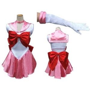 Sailor Moon Tsukino Chibiusa Costume, Sailor Moon Costume, Sailor Moon Pink and White Costume, Sailor Chibi Moon Costume, #N9566
