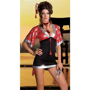 Geisha Beauty To Ninja Cutie Costume, Ninja Cutie Womens Costume, Ninja Cutie Costume, #G5164