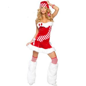 Santas Candy Cane, Santa Dress, Womens Christmas Dress, #XT4703