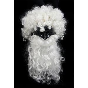 Christmas Costume Beards & Wigs, white wig and beard set, Santa Beard And Wig Set, #MS6320