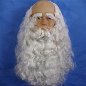 Santa Costume Beards & Wigs & eyebrow, Santa Claus Set, Santa Claus Beards & Wigs & eyebrow, #MS6321