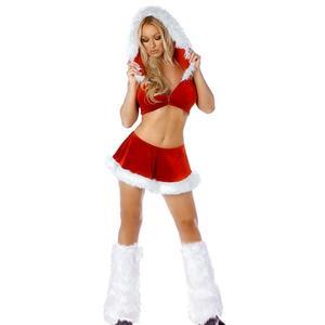 Santa Skirt and Jacket Set, Sexy Christmas, Sexy Christmas costume wholesale, Sexy Suspender Santa Lingerie Costume, #XT2083