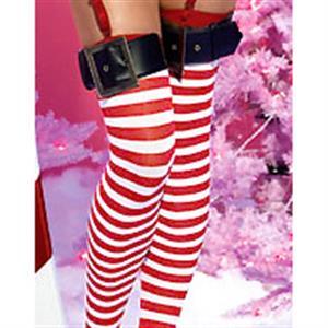 Santa Stockings, Nylon Striped Stockings, Sexy Christmas Stockings, Stockings wholesale, #HG2198