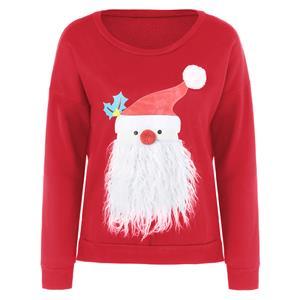 Santa Claus Long Sleeve Pullover Sweatshirt N12264