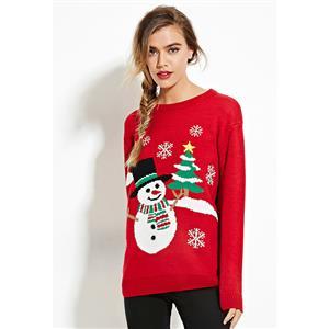 Christmas Snowman Pullover Sweatshirt N12266
