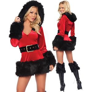 Hot Christmas Gifts, Naughty Santa Costumes, Sexy Christmas Outfits, #XT3098