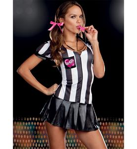 Sassy Scorekeeper Costume, Sexy Sporty Girl Outfit, Referee and Sports Persons Costumes, #N8070