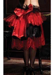 Satin And Organza Skirt & Heart Print Pantie, Layered Bustle & Valentines Day Panties, #HG4444