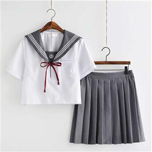 School Girl Costume, JK Uniform Costume, Sexy School Girl Costume, School Girl Adult Costume, Japan School Uniform Cosplay Costume, Short Academy Uniform Sets, Navy Collar School Girl Costume, #N20554