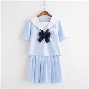 School Girl Costume, JK Uniform Costume, Sexy School Girl Costume, School Girl Adult Costume, Japan School Uniform Cosplay Costume, Short Academy Uniform Sets, Navy Collar School Girl Costume, #N20612
