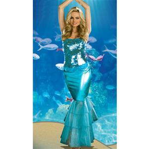 Sea Diva Costume, Blue Mermaid Costme, Womens Mermaid Costume, #M1739