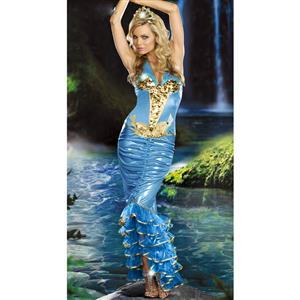 Sea Queen Costume, Sea Goddess Costume, Green Mermaid Costume, #N4760