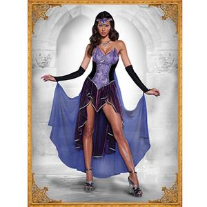 Deluxe Sorceress Costume, Seductive Sorceress Witch Costume, Deluxe Fairytale Witch Costume, Movie Witch Costume, Mysterious Priestess Halloween Costume, Noble Purple Priestess Costume, Adult Pantomine Evil Prietess Costume #9177