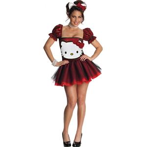 Sequin Hello Kitty Costume, Adult Hello Kitty Halloween Costume, Licensed Hello Kitty Costume, #N6245
