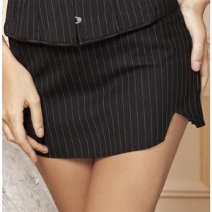 Pinstripe skirt, skirt, sexy Secretary skirt, #HG1901