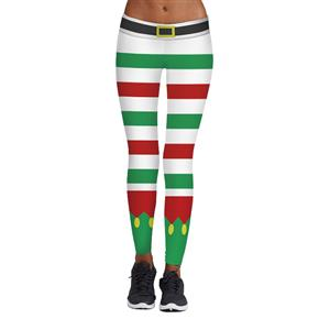 Sexy Leggings, Christmas Leggings, Digital Print Skinny Leggings, Printed Yoga Pants, Ankle Length Christmas Legging, Ugly Santa Christmas Leggings, #L15102