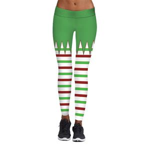Sexy Leggings, Christmas Leggings, Digital Print Skinny Leggings, Printed Yoga Pants, Ankle Length Christmas Legging, Ugly Santa Christmas Leggings, #L15107
