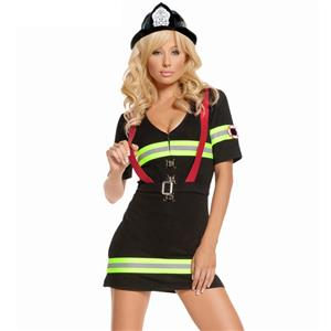 Sexy Adult Firefighter Costume, Women