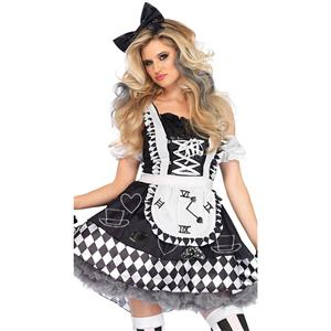 Adult Wonderland Halloween Costume, Sexy Alice Wonderland Costume, Ladies
