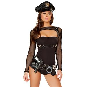 Sexy Police Costume, Halloween Costume, Hot Sale Bad Cop Costume, Cheap Cop Costume Set, #N10480
