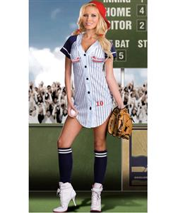 Grand Slam Costume, Sexy Baseball Costume, Sexy Baseball Girl Costume, Sexy Baseball Player Halloween Costume, #N4770