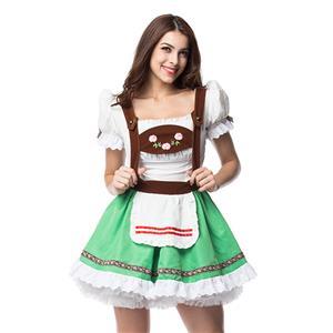 German Oktoberfest Beer Wench Costume, Fancy Beer Girl Costume, Milk Maid Costume, Halloween Costume, #N11906