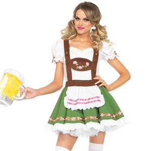 German Oktoberfest Beer Wench Costume, Fancy Beer Girl Costume, Milk Maid Costume, Halloween Costume, #N19737