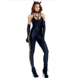 Sexy Black Guilty Pleasure Catsuit Halloween Cosplay Costume N17736