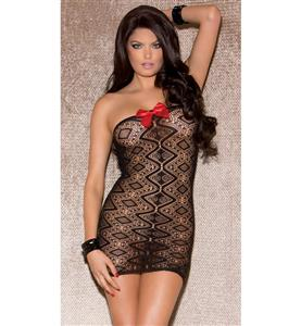Sexy Black Lace Strapless Chemise Lingerie N10521