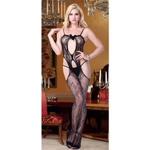 Sexy Mesh Bodystocking, Black Hollow Out Bodystocking, Cheap Black Bodystocking, #BS10668