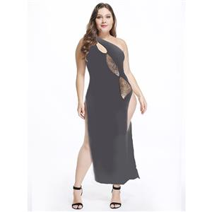Sexy Black Long Gown, Cheap Black Clubwear Long Dress, Women
