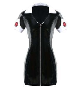 Sexy Black Nurse Costume,. Cheap Halloween Costume, PVC Costume, Hot Sale Hottie Nurse Costume, Plus Size Costume, #N10724