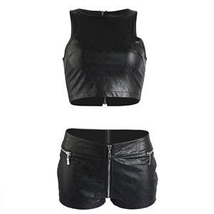 Sexy Crop Top and Short Clubwear Set, Women