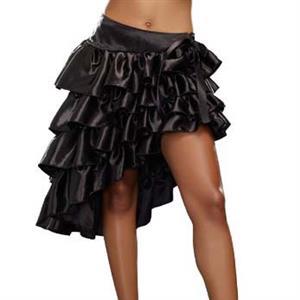 Plus Size Skirt, Fashion Black Ruffles Skirt for Women, Cheap Halloween Skirt Costume, Club Party Skirt, #N11067