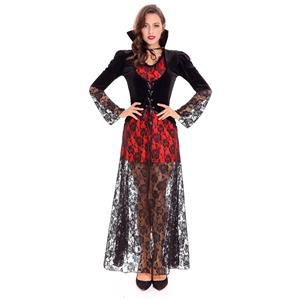 Sexy Black Widow Vampire Costume N14620