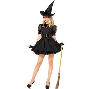 Sexy Witch Costume, Gothic Witch Halloween Party Fluffy Dress, Sexy  Witch Costume, Fashion Witch Womens Costume, Sexy Adult Halloween Costume, Witch Cosplay Costume, #N20994