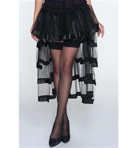 Sexy Black Skirt Petticoat, Cheap Ladies Yarn Petticoat, Party Dress Petticoat, Dancing Petticoat, Plus Size Petticoat, #HG10582