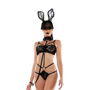 Hot Bunny Bedroom Costume, Sexy Lace Lingerie, Sexy Bunny Cosplay Costume, Flirty Teddy Lingerie, Sexy Bunny Uniform,One-piece Bodysuit Temptation Costume, Sexy Cosplay Costume, #N20483