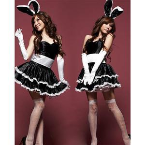Black Bunny Costume, Sexy Bunny Costume, Animal Uniform Dress, #N4004