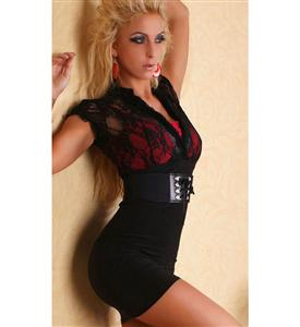 Sexy Business Mini Dress, Business Mini Clubwear Dress, working showstopping style Dress, #N5644