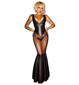 Sexy Charming Black See-through Mermaid Dress N10517