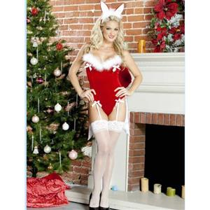 sexy Christmas Costume, Holiday Pleasure Costume, Santa Costume, #XT12186