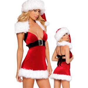 Sexy Christmas Costumes, Sexy Santa Outfit, Holiday Costume, #XT3096