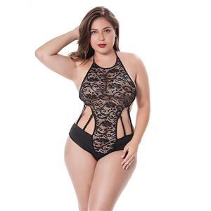 Sexy Sleepwear Bodysuit for Women, Sexy Black Floral Lace Lingerie, Cheap Romper Lingerie for Women, Sexy Valentines Lingerie, Christmas Bodysuit Lingerie, Plus Size Bodysuit, #N17478