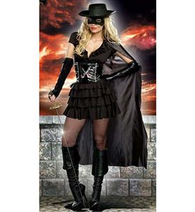 Diva Mask Costume, Sexy Costume,  Cheap High Quality Halloween Costume, Sexy Double-Edge Costume, #N9800