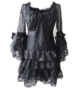 Cheap Black Party Dress, Fashion Lace Dress, Off-shoulder Dress, Sexy Clubwear Dress, #N10892
