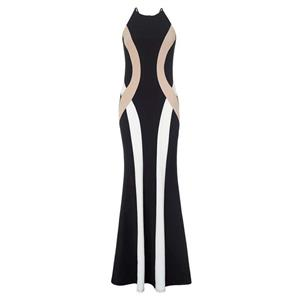 Night Club Party Long Dress, Cheap Clubwear Dress, Fashion Black Long Gown, Hot Sale Sleeveless Dress, Elegant Lady Dress, #N10856