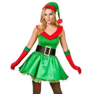 Cheap Sexy Elf Santa Christmas Costume, Santa Little Helper Xmas Christmas, Ladies Sexy New Xmas Costume, Comfortable Women