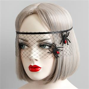 Halloween Masks, Costume Ball Masks, Black Lace Mask, Masquerade Party Mask, Punk Black Mask, Cosplay Face Veil, #MS13032