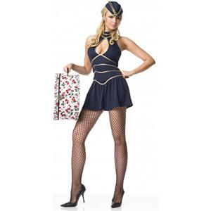 Sexy Flight Attendant Costume, Sexy Scout, Sugar & Spice, #N1784